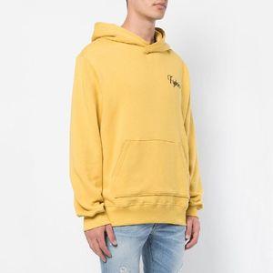 18FW AM1R1 Otoño Invierno amarillo sudadera con capucha Tigre bordado sudaderas moda de la calle de los hombres ocasionales de las mujeres suéter suéter HFYMWY208