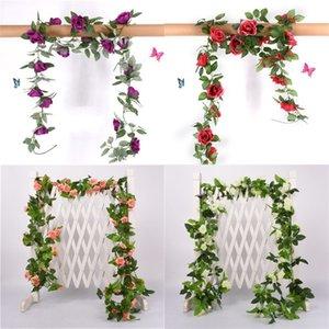 Festa de aniversário plantas de folha verde artificials Flor Casamentos Decoração Flores Decorações para a Casa Simulações bonitas Hot Sale 9 5SW E2