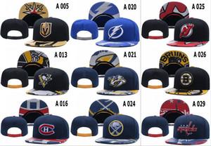 Дизайнер Хоккей Snapback Caps Мужчины Женщины Nashville Predators Snapbacks шапки Вязаные Gorras Vegas Golden Knights SNAPBACK Cap