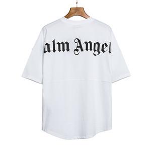2020ANGELS Beleza PALM maré impressão ANJOS PA perder esportes casuais em torno do pescoço de manga curta T-shirt homens e mulheres 080406-05