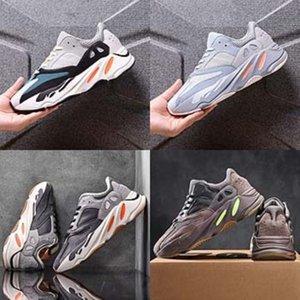 Verão 2020 das meninas do menino Flats caçoa as sapatilhas menina verde Gym Kanye West 700 Kanye West 700 sapatos leves Crianças bonito que funciona Kanye West 700 Kanye # 986