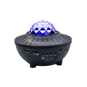 USB LED 스타 나이트 라이트 음악 별이 빛나는 물 웨이브 LED 프로젝터 빛 블루투스 프로젝터 프로젝터 빛 장식 CRESTECH 사운드 활성화