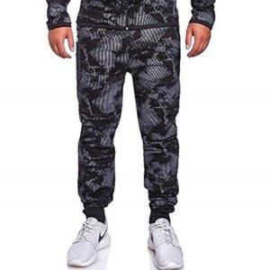 Piedi Casual Stampato Graffi uomo Fascio di pantaloni da uomo pantaloni cerniera laterale Slim Harem 3 colori di grandi dimensioni Dimensione Streetwear Pantaloni