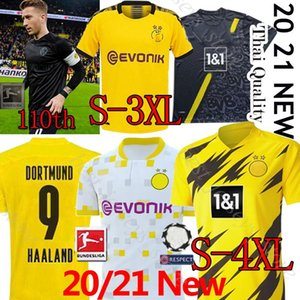 Borussia Dortmund HAALAND REYNA 110 futbol forması 19 20 21 TEHLİKESİ Götze SANCHO BRANDT E.CAN REUS Witsel futbol forması S-3XLThai üniforma