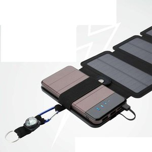 cargador solar 10W SunPower directo carga de la batería Doblado paneles solares Power Bank caso solar del cargador extraíble para productos electrónicos