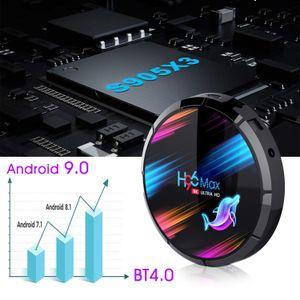 H96 MAX X3 8K Android 9.0 TV Box Amlogic S905X3 2.4G 5G Dual Brand Wifi Bluetooth 4GB 128GB Device
