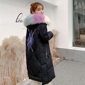 nouveau féminin de mode gros mi-longs hiver vêtements amples bread veste en coton à long vers le bas