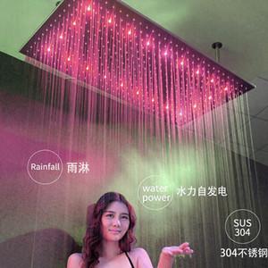 Neue Ankunfts-Europa-Art-20x40 Zoll Top Kopf Dusche Regendeckenmontage Big Regen Spa Massage-Dusche mit LED Farbwechsel