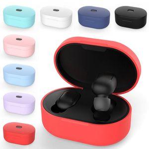 الجملة 8 ألوان سيليكون ضد الصدمات واقية سماعة الحالات للحصول على XIAOMI MI Redmi AirDots سماعات الغلاف TWS سماعة الرأس اللاسلكية شل
