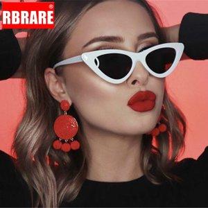 RBRARE triangular vendimia Cateye Las gafas de sol retro de la mujer colores del caramelo transparente Lentes Oculos Femenino