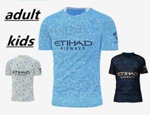 Adult and kids STERLING DE BRUYNE KUN AGUERO 20 21 manchester soccer jersey city 2020 2021 jersey football shirt men kids kit sets