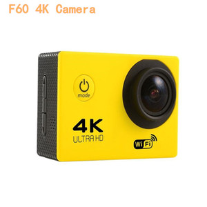 """جديد -4K عمل كاميرا F60 ALLWINNER 4K / 30fps تجهيز 1080P الرياضة واي فاي 2.0 """"170D كاميرا الخوذة تحت الماء ذهاب للماء كاميرا للمحترفين"""