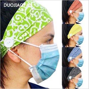 Bandas de cintas para la cabeza de pelo Deportes al aire libre con el botón de ancho de algodón elástico Yoga Accesorios para el cabello banda estiramiento del encanto de las mujeres diadema LSK252
