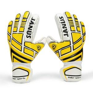 JANUS Professional Soccer Goalie Gloves Adult Goalkeeper Gloves Children Thickened Latex Men Football Gloves Finger Protection