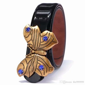 Popular fashion yellow hook men and women designers with European high brand leather belt to bring a gift