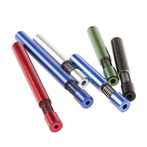 tabac créatif pipe 78mm 80mm printemps en alliage d'aluminium métal du tabac Porte-Pipe Accessoires DHC223