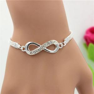 Bracelet Pandora Selling Hot-Selling Infinity Diamond Bracelet Simple Personnalité Unisexe Net Célébrité Mode Bijoux à la main