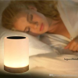 USB Rechargeable Adjustable Color Night Light LED Creative Night Lamp Wood Grain Bedside Lamps Novelty Lighting Home Decor Gift BC BH1180