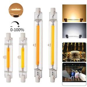 R7S 디 밍이 가능한 LED 전구 COB 유리 튜브 78MM 6W 118MM 10W 할로겐 램프 100W 콜드 화이트 COB 옥수수 스포트 라이트 AC110V 220V를 따뜻하게 교체