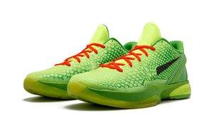 2020 Grinch Black Mamba 6 Del Sol Schuhe zu verkaufen mit dem Kasten der heißen Männer Frauen Basketballschuhe speichern US7-US12