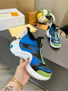 Gli uomini della piattaforma di modo delle donne del progettista 2020 Scarpe in pelle nera di lusso casual Sneakers35-46