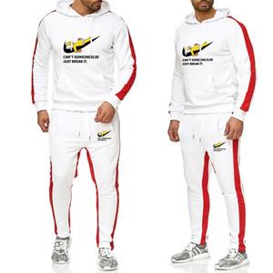Frauen Bekleidung 2-teiliges Set Mensentwerfer Training neue Marke Herbst / Winter-Kapuzenpulli + Strapse verdickten Hoodie Männer