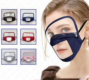 Detachable Masks with Eyes Shield Facemask Washable 2in1 Removable Visor Full Face Cover Cycling Outdoor Sports Protecter 6 Colors D71510