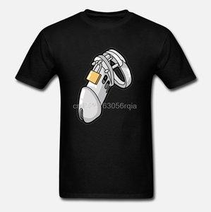 Personnalité Humour Homme Chastity Appareil Cocu esclave Sub pénis Cage T-shirt Homme Lumière du soleil Hommes T-shirt Pop Top Tee O Neck