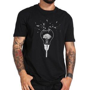 Camicia Cervello T Free Your Mind artistico Design morbido e traspirante nero cotone di alta qualità rotto lampadina T-shirt
