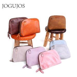 JOGUJOS Fashion Female Shell Messenger Bag Genuine Leather Women Shoulder Crossbody Bag Ladies Small Square Totes Handbag