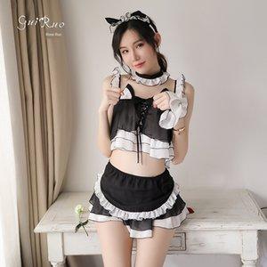 Ruoruo New Cat Girl servante six pièces Ens sous-vêtements sexy sous-vêtements tentation jeu uniforme MAID mis 339