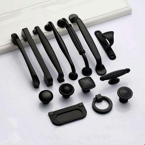Poignées noires pour meubles boutonnages et poignées poignées de cuisine poignées tiroirs armoires tirent des boutons de porte poitrine de porte
