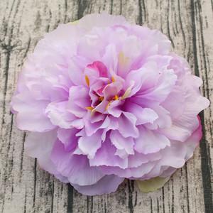10PCS Gran Peony Alto grado de falsificación flor artificial pared de boda de flores al por mayor de 16cm de diámetro del fondo del color 10