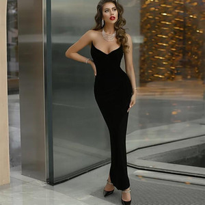Ocstrade Reinvented Sweetheart Maxi Long Bandage Dress 2020 New Arrival Women Black Bandage Dress Bodycon Evening Party