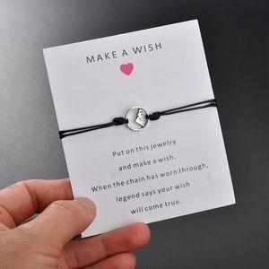 ashion Jewelry Bracelets Silver Color Mountain Charms Adjustable Bracelets For Women Men Kids Minimalist Wax String Yoga Bracelet Wristba...