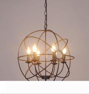 빈티지 산업 조명 펜던트 램프 푸코 IRON ORB 샹들리에 RUSTIC IRON 로프트 빛 자이로 미국의 국가 스타일 직경 50cm의 65cm