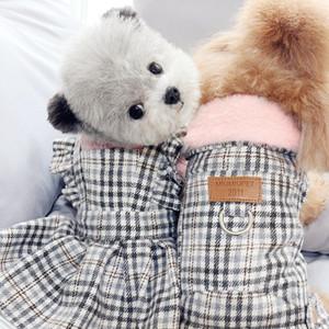 Boy Dog Clothes Coat Jacket Girl Dog Clothing Dress Skirt Winter Pet Dog Costume Pomeranian Poodle Bichon Schnauzer Puppy Outfit T200710