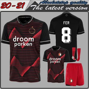 Men Kids shirt suit 20 21 Thailand Quality Feyenoord away Soccer Jersey 2020 2021 Home jersey Away black Football Shirt Uniform
