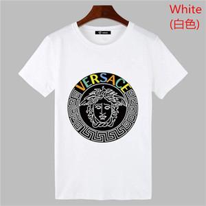 Hombre del diseñador camisetas sin mangas Casual manga del palo del verano Tops camisas Hiphop High Street para hombre t flojo del G8Versac