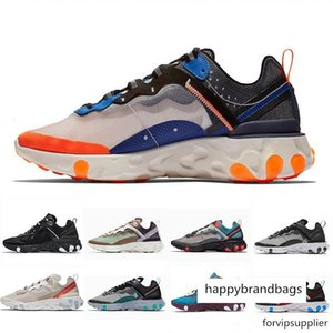 brang 2019 Total Orange Epic React Element 87 Running Shoes For Women men Dark Grey Blue Chill Trainer 87s Sail Green Mist Sports Sneakers