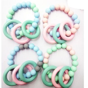 UWPHP Infant food grade silicone Silicone bracelet bracelet colorful environmental protection wooden ring large quantity and excellent price