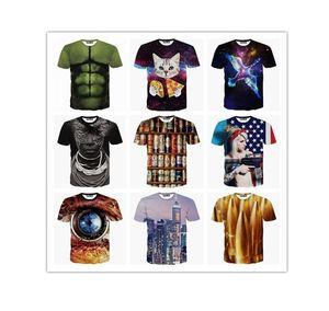 Fashion Design Summer Tshirt Men Cool Skulls Printed Short Sleeved Tees Tops Tee Shirts Clothing Short Sleeve Size M-3XL