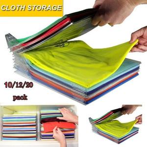 10 слоев ткани против морщин хранения держатель стойки File Organizer Stacking Board Travel Closet Ящика