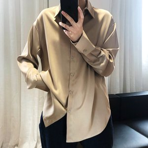 Satin Chiffon Shirt Women's Spring Autumn Designer Woman Suits Top In 2020 Personality Casual for Woman Classic High Quality Top