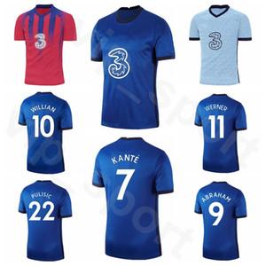 Men 2020 2021 football 10 WILLIAN Jersey 7 KANTE 9 ABRAHAM 18 GIROUD 11 PEDRO 23 Batshuayi BARKLEY RUDIGER football shirt Kits Q-E-X