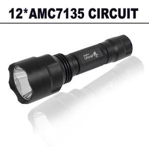 Unique ~ 2000LM 12*AMC7135 4200mA Powerful C8 LED XM-L2 U3 6500K LED Torch Lantern