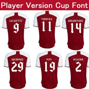 Versión del reproductor Gunner camiseta de local de fútbol rojo 20/21 PEPE Copa camisa de la fuente de fútbol 2021 GUENDOUZI Sokratis personalizarse uniformes de la Copa FA del fútbol