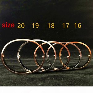 J New Style Men And Women Love Screw Bracelets Silver Rose Gold Bangle With Screwdriver Bracelet For Lovers Jewelry