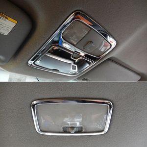 Acciaio inossidabile anteriore e posteriore a soffitto Telaio Tetto disposizione della copertura della lampada di lettura della luce Per Land Cruiser Prado J120 2003 2009 beat auto Interio sdLw #