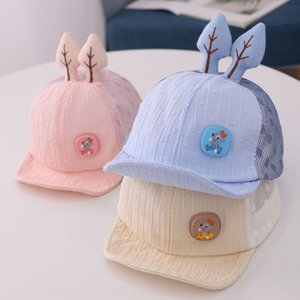 Bida children's cartoon deer breathable cap net hat new baby cap baby sun hat fashion